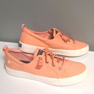 Sperry Top-Sider Canvas Orange Shoes Size 7.5